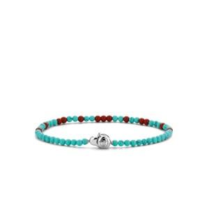 Armband van Ti Sento met blauwe en rode stenen - Te koop bij Sparnaaij Juweliers in Aalsmeer en Hoofddorp