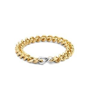 Zilveren armband met dikke 18k gouden micron laag van Ti Sento - Te koop bij Sparnaaij Juweliers in Aalsmeer en Hoofddorp