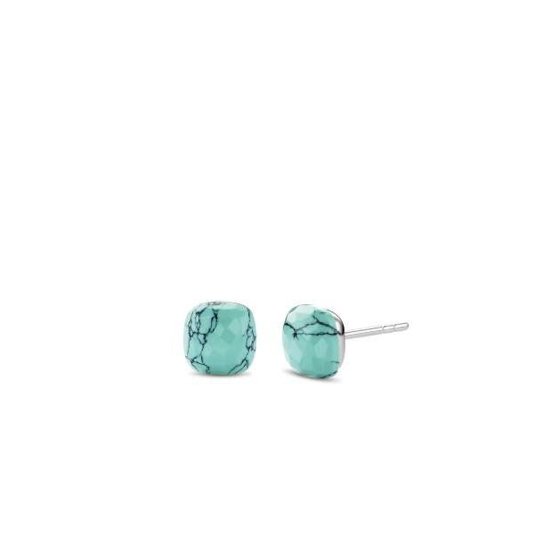 Zilveren oorstekers met turquoise steen - Te koop bij Sparnaaij Juweliers in Aalsmeer en Hoofddorp