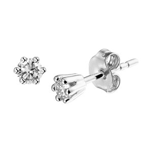 Oorknoppen diamant 0.20ct (2x0.10ct) H SI