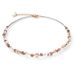 Coeur de Lion - Collier botswana agaat staal twistedpearls - Te koop bij Sparnaaij Juweliers in Hoofddorp