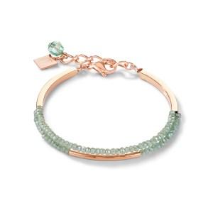 Coeur de Lion armband - Mintgroen en rose staal verguld - Te koop bij Sparnaaij Juweliers