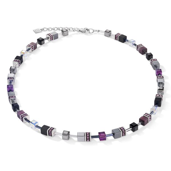 Coeur de Lion collier - Zilver, paars howliet en onyx - Te koop bij Sparnaaij Juweliers in Hoofddorp