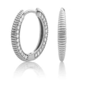 Sparkling Jewels - Creolen crystal zilver - Te koop bij Sparnaaij Juweliers in Aalsmeer en Hoofddorp
