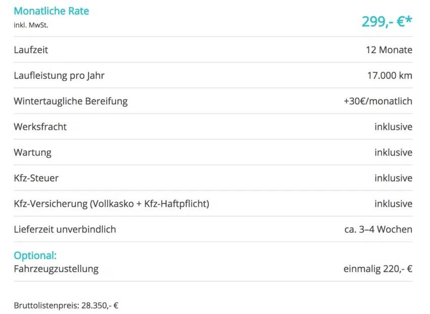 HOT! Peugeot 308 Leasing fr 299 Euro im Monat brutto [all