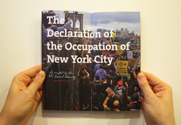 declaration of the occupation of new york city