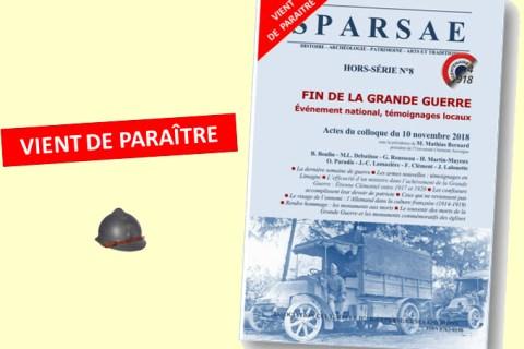 VIENT DE PARAITRE : Actes du colloque d'Aigueperse du 10 novembre 2018