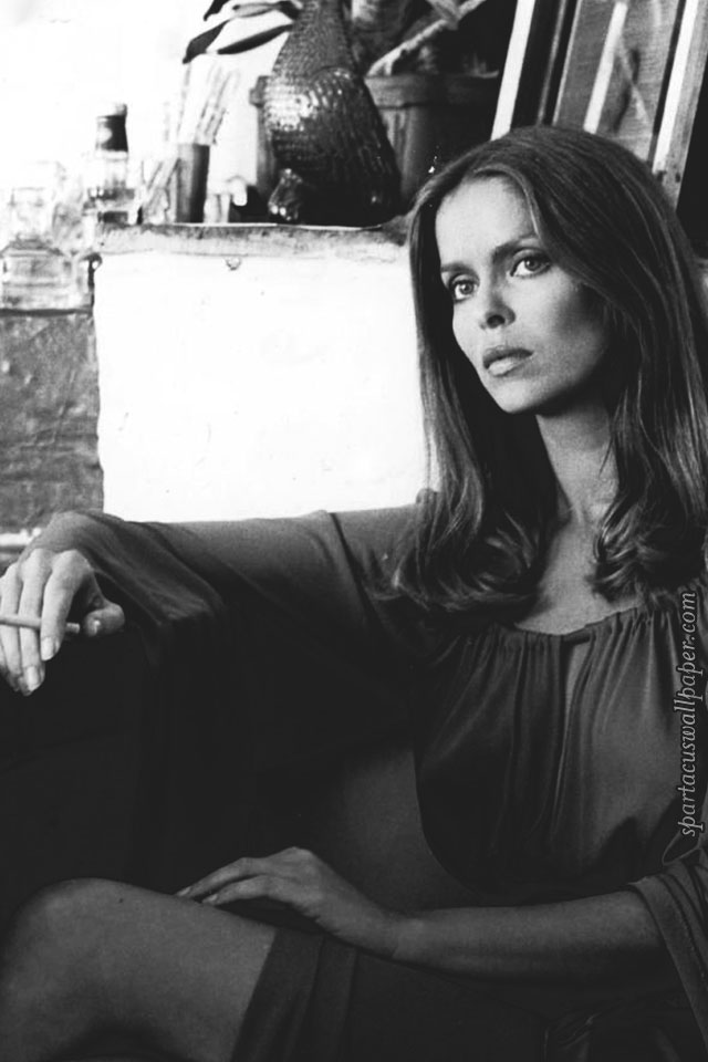 Wallpaper Black And White Girl Barbara Bach February 2017 Desktop Backgrounds