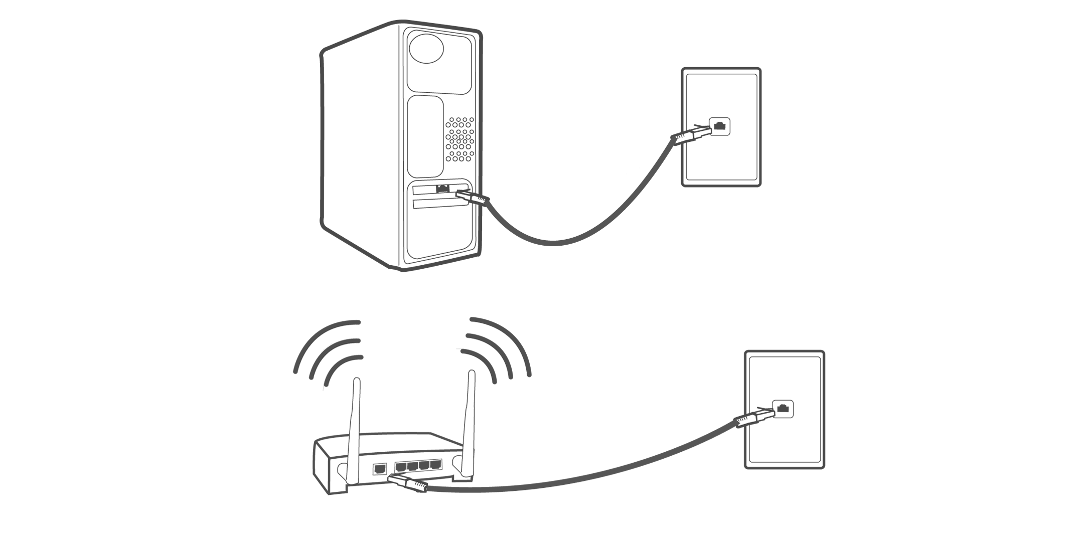 Cable And Ethernet Wall Plate