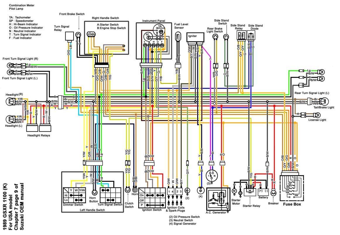 91 Gsxr 1100 Wiring Diagram - Wiring Diagram Img