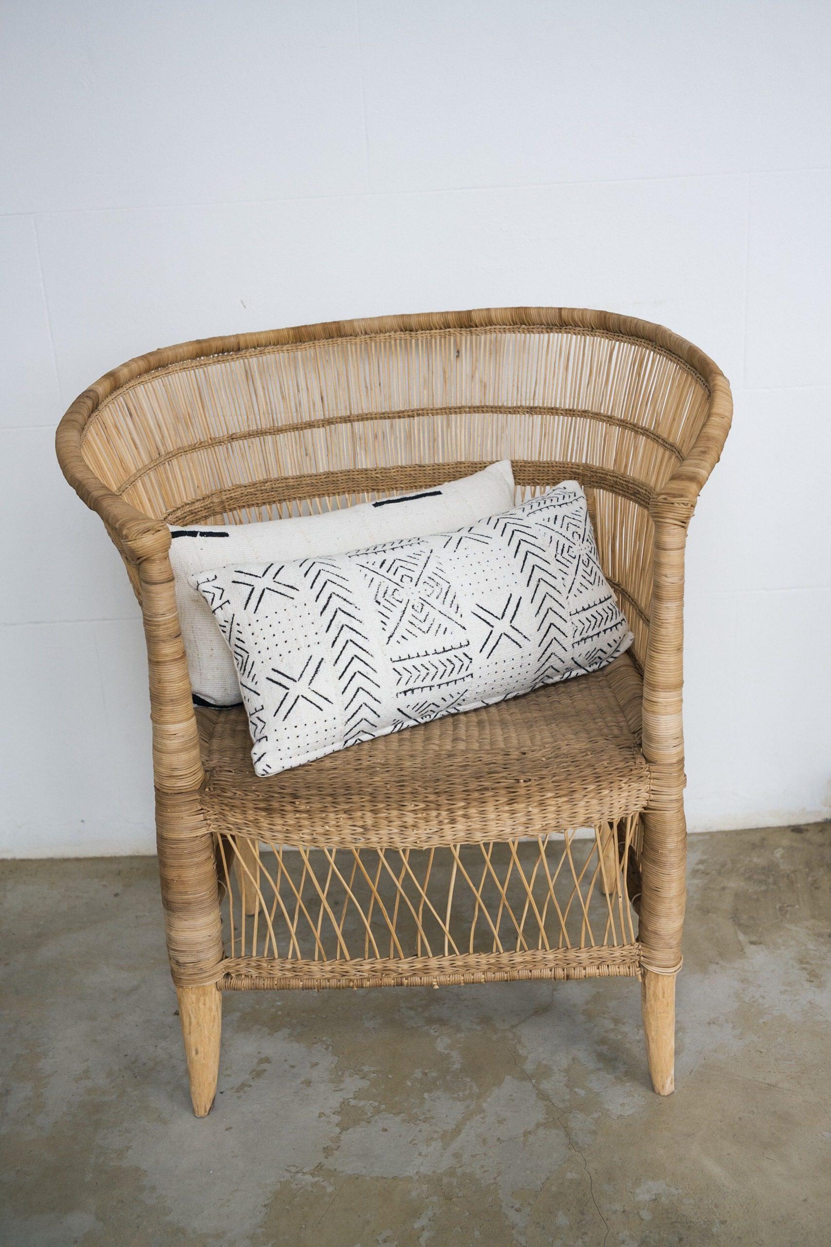 Pillows on chair