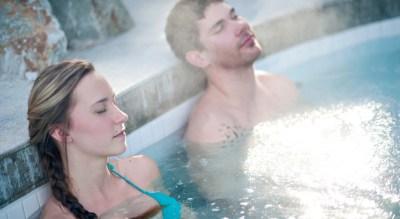Couple, Scandinave Spa Whistler, Spas of America