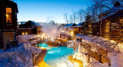 Winter Sunset, Blue Mountain Scandinave Spa, Spas of America