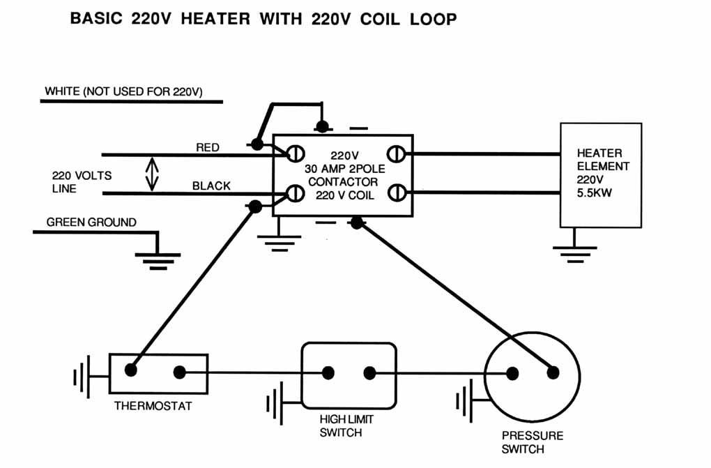 the above diagram is of a 220240 volts heater circuit you will