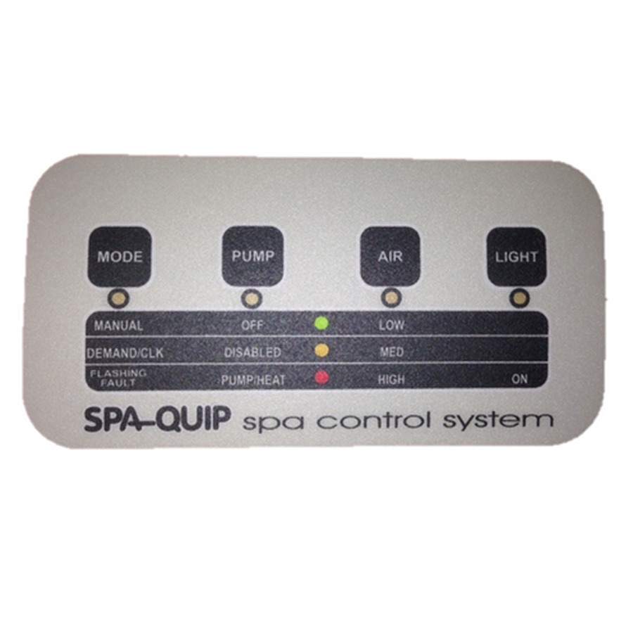 hight resolution of davey spa quip pulsar series 4 way touch pad pulsar series micro spa controller wiring diagram