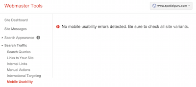 Google admin tool says mobile check is okay