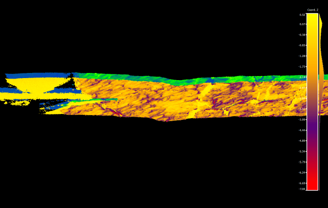 figure showing sea ice draft from LiDAR points