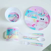 Personalised Melamine Kids Dinner Set - SPATZ Mini Peeps
