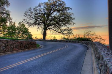 sunset-on-the-curving-road