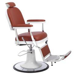 Revolving Chair For Salon Contemporary White Leather Zerbini 1906 Barber Nilo Spavision Global