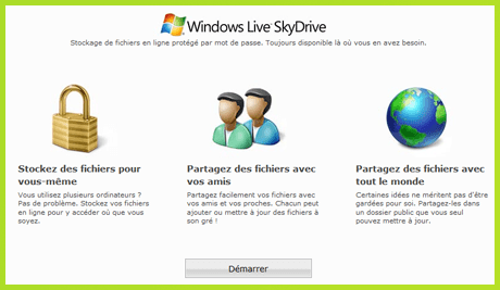 Skydrive accueil
