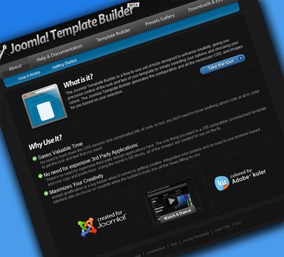 Joomla template builder