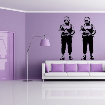 Wall Stickers Tribute Banksy Happy Coppers