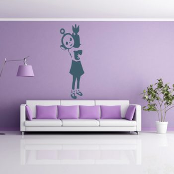 Wall Stickers Tribute Banksy MedBlue