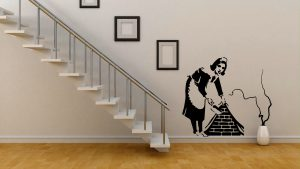 Wall Stickers Tribute Banksy Waitress