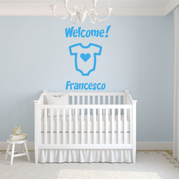Adesivo murale welcome baby gallery
