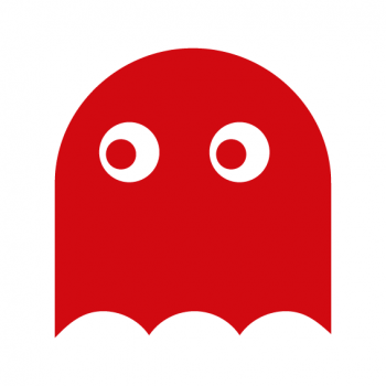 pacman ghost rosso