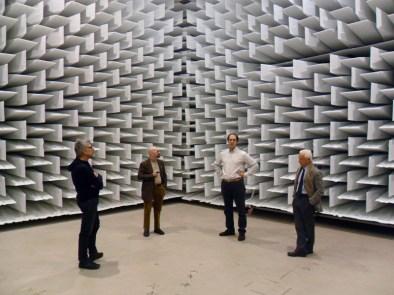 Visita alla camera anecoica dell'Università di Ferrara - foto Marco Laurenti