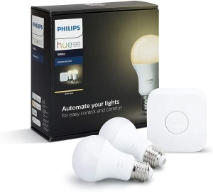 Philips Lighting White Starter Kit E27 con 1 Bridge e 2 Lampadine