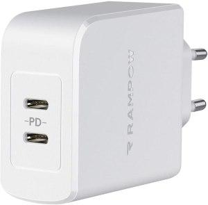 RAMPOW Caricabatterie USB C