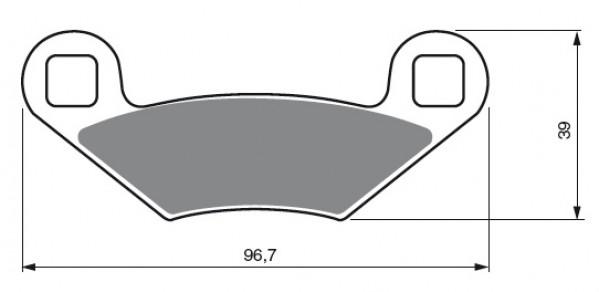 Pastillas de freno trasero Sinterizadas Polaris 300 Hawkeye 2x4/4x4 2007, 300 Sportrsman 08-10