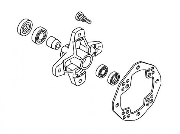 Kit rodamientos rueda trasera Yamaha YFM600 Grizzly 2002 y