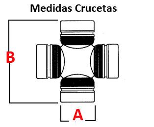 Cruceta cardan diferencial trasero-palier trasero interior