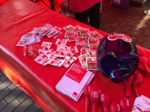 Wahlkampfstand am Kiepenkerl Giveaways