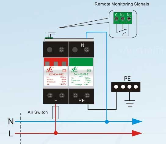 Single Phase 220v Wiring Diagram Surge Protection Device 220v Surge Protection 110v Spd