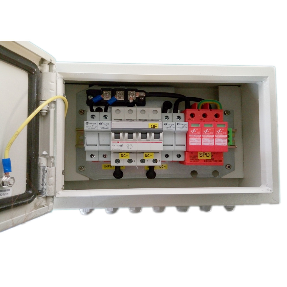 hight resolution of ip65 solar 2 in 1 out pv combiner box