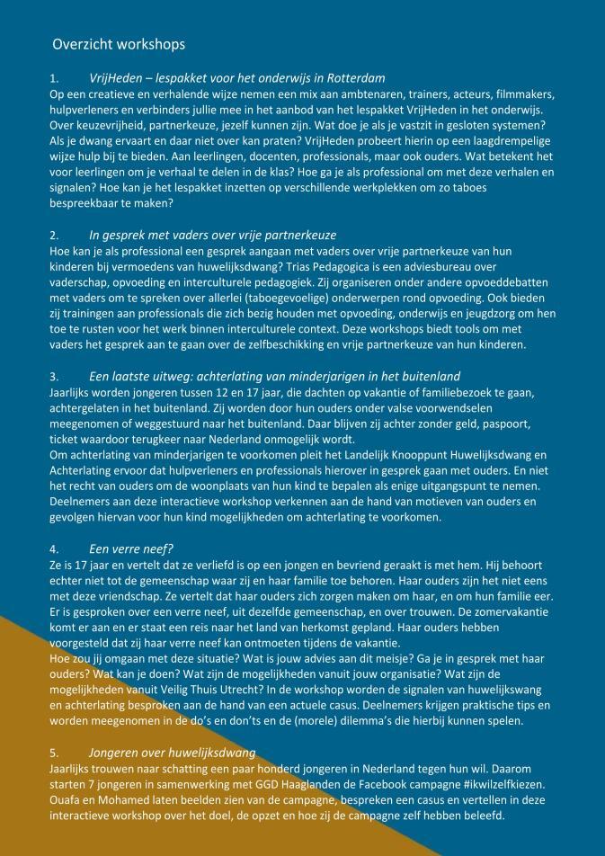 Programma bijeenkomst campagne huwelijksdwang en achterlating 7 juni 201....page2