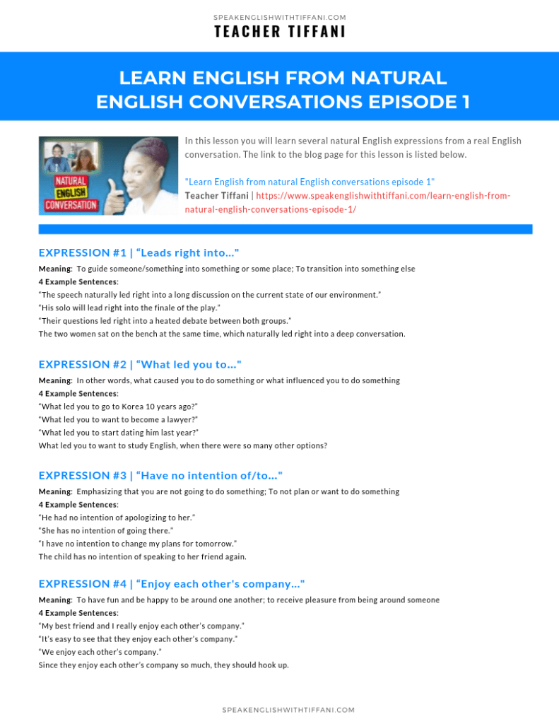 English PDF | Learn English From Natural English