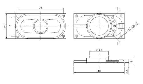4020 Rectangular Speaker, Oval Speaker Supplier China