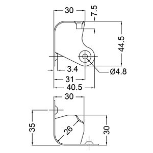 DIY Speaker parts Cabinet Corner