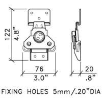 Speaker cabinet hardware Latch