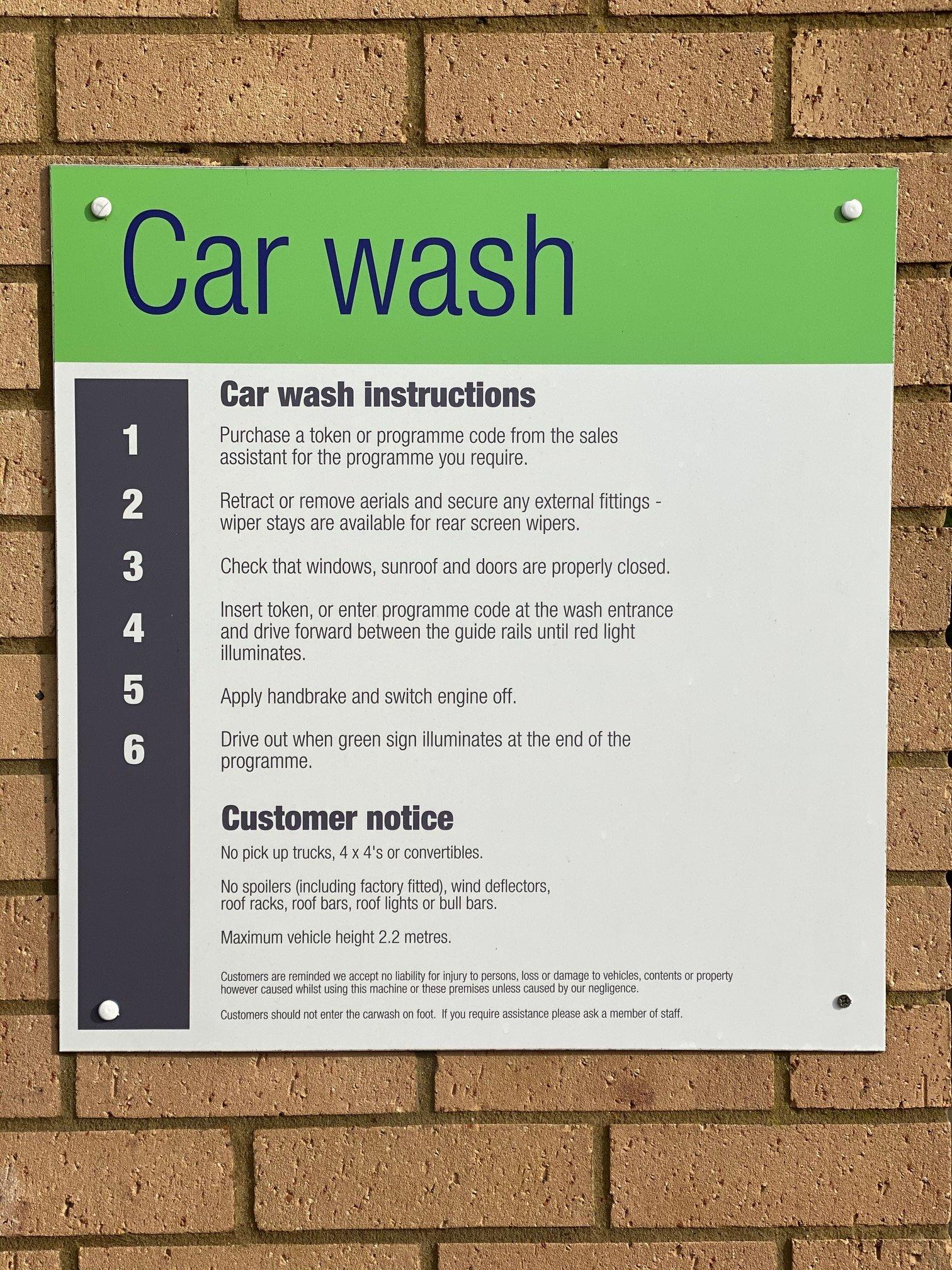 damage from car wash speak ev