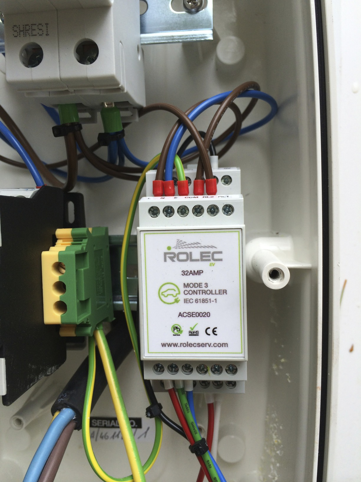 hight resolution of rolec 32a type 2 charger install by the phoenix works speak ev rolec ev charger wiring diagram
