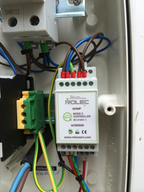 small resolution of rolec 32a type 2 charger install by the phoenix works speak ev rolec ev charger wiring diagram