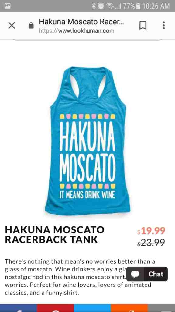 Hakuna Moscato Tank Top