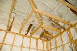spray foam insulation in ceiling